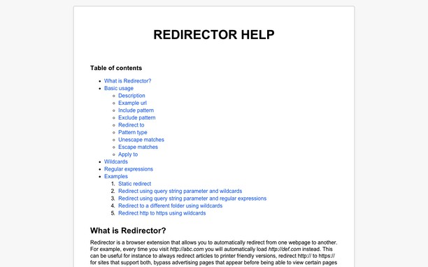 Redirector extension - Opera add-ons