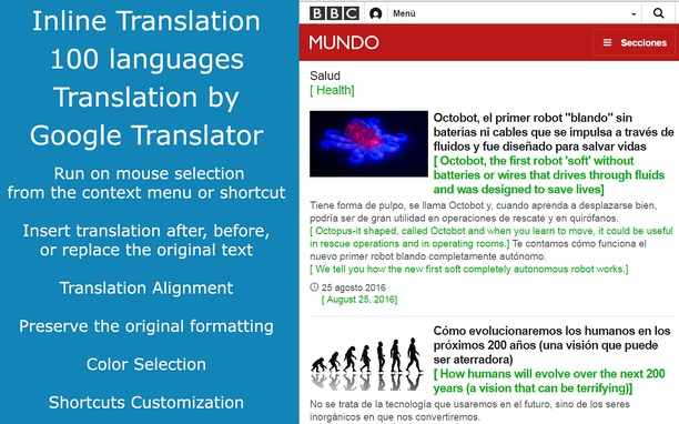 ImTranslator: Translator, Dictionary, TTS extension - Opera add-ons