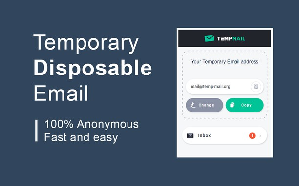 Zrzut ekranu pakietu Temp Mail - Disposable Temporary Email