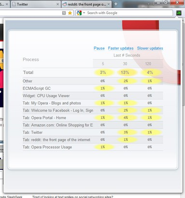 Screenshot for CPU Usage Viewer