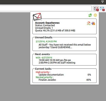 Zimbra Mail Notifier extension - Opera add-ons