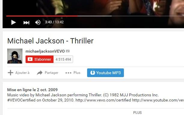 Snímek obrazovky pro Télécharger YouTube MP3