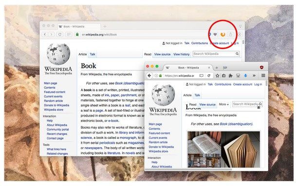 Screenshot di Open in Firefox