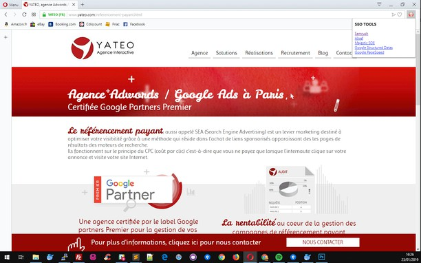 Screenshot for SEO TOOLS - YATEO