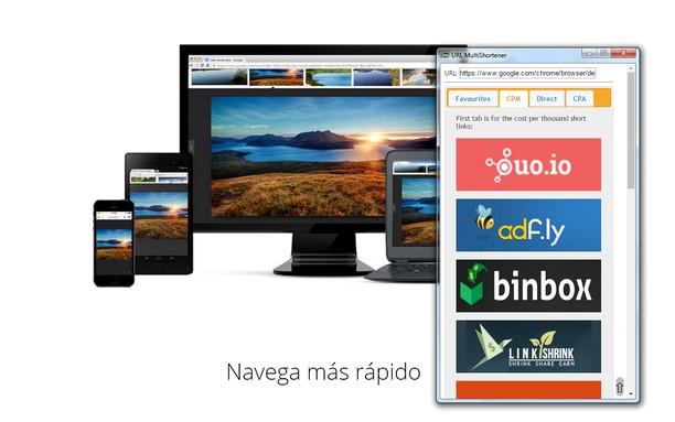 Bildschirmfoto für URL MultiShortener