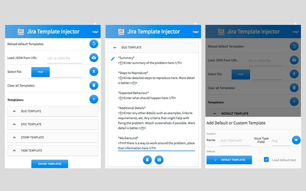 JIRA Template Injector extension - Opera add-ons