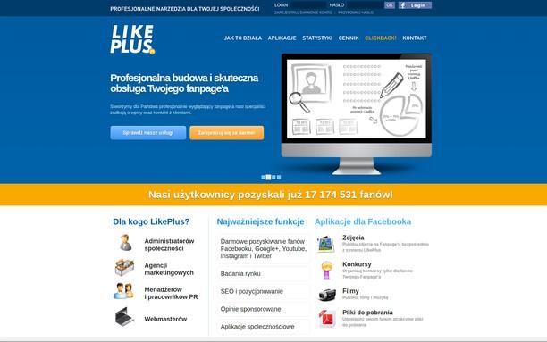 Captura de tela de LikePlus.eu