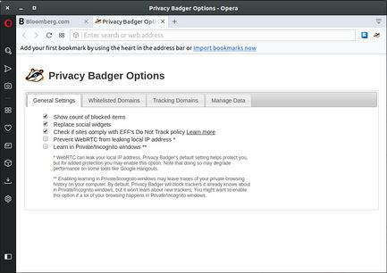 Privacy Badger extension - Opera add-ons