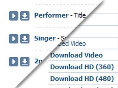 VKontakte ru Downloader extension - Opera add-ons