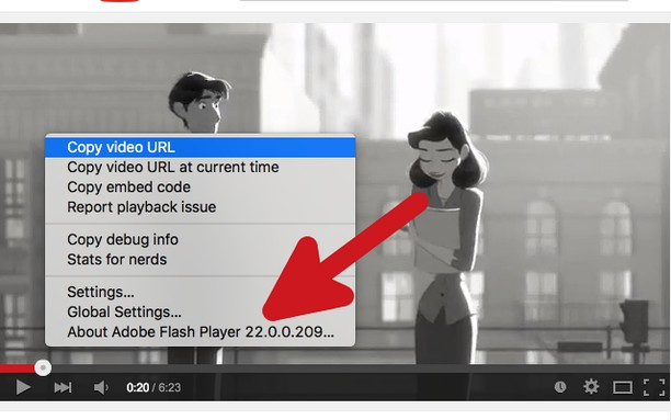 Petikan untuk YouTube™ use Flash Player