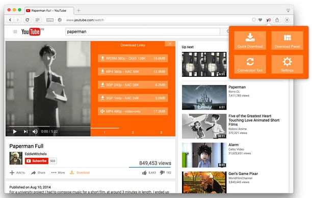 Captura de tela de YouTube Video and Audio Downloader