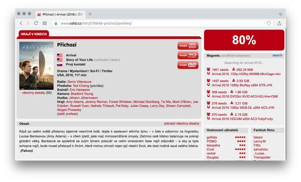 Снимок экрана для CSFD Magnets