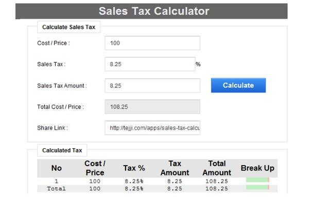 rozšíření sales tax calculator doplňky opery