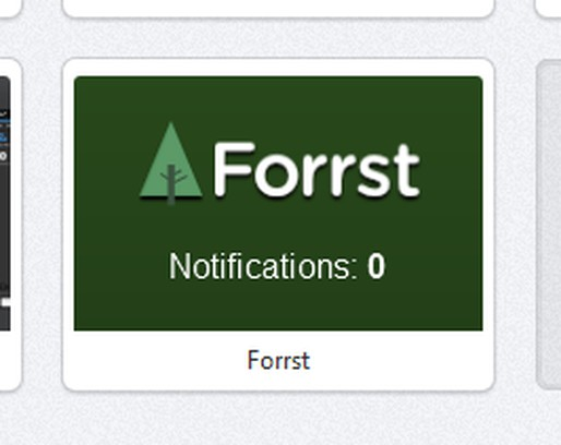 Screenshot for Forrst Speed Dial Notifier