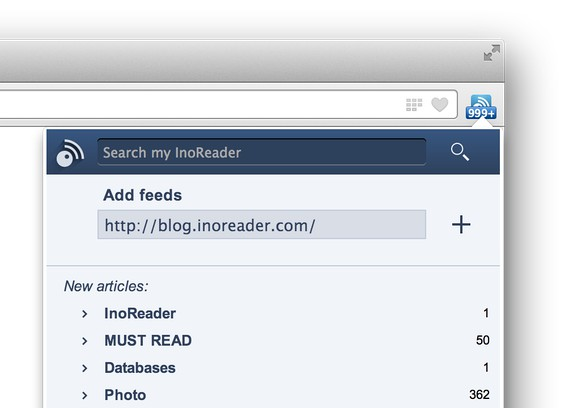 Screenshot for InoReader Companion