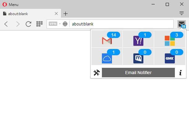 Captura de tela de Email Notifier