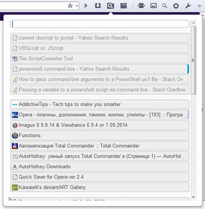 Search Tabs extension - Opera add-ons