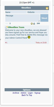 Screenshot for Shout chat