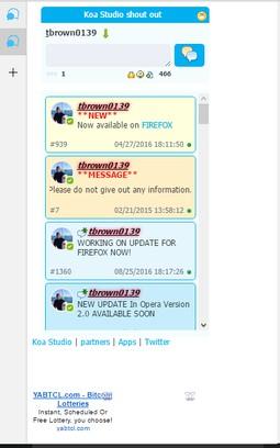 Schermafbeelding voor Side Chat.