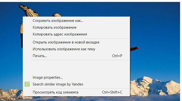 Screenshot di Image Searcher Yandex