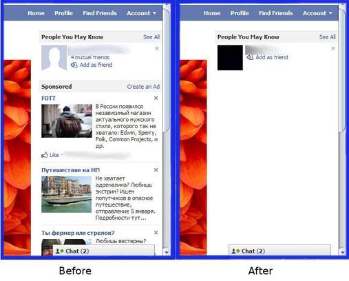 Captura de tela de Facebook Ad Cleaner