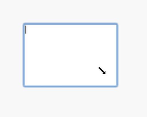 Skärmbilder för Drag-Resize TextArea