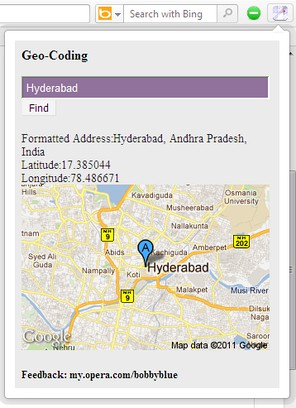 Screenshot for GeoCoding!