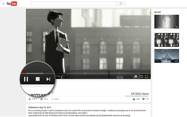 Снимок экрана для YouTube™ Stop Button