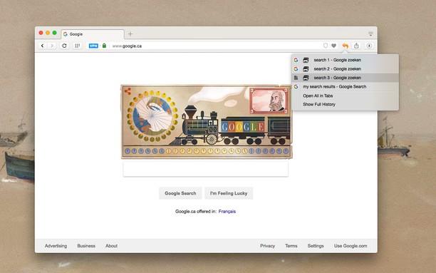 Screenshot for Undo Closed Tabs Button
