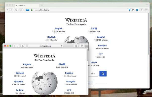 Screenshot for Open in Safari