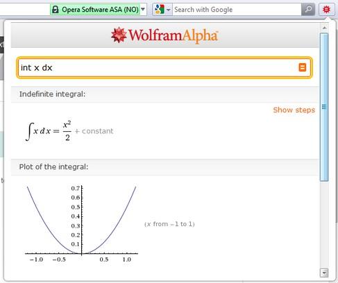 Screenshot for Mini Wolfram Alpha
