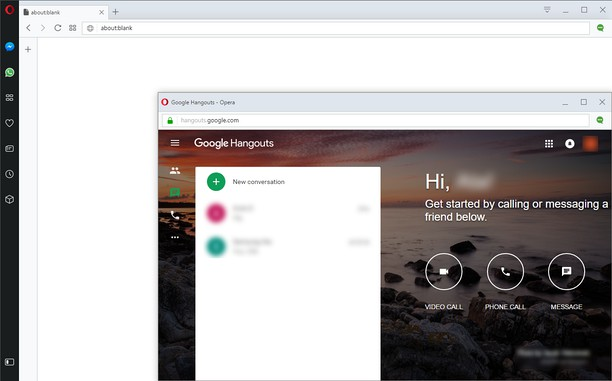 Google™ Hangouts (Chat, Talk & Video Calls) extension - Opera add-ons