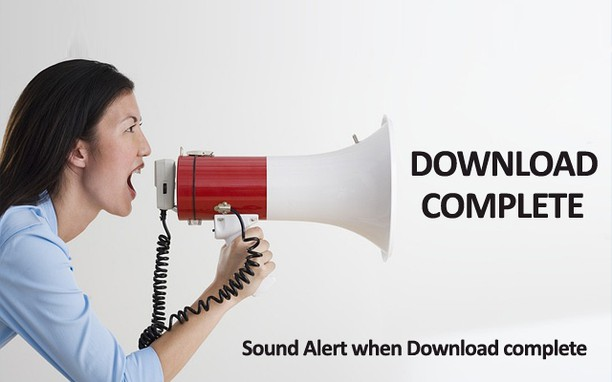 Zrzut ekranu pakietu Sound Alert when Download complete