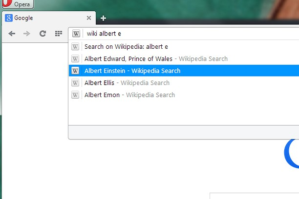 Wikipedia Search extension - Opera add-ons