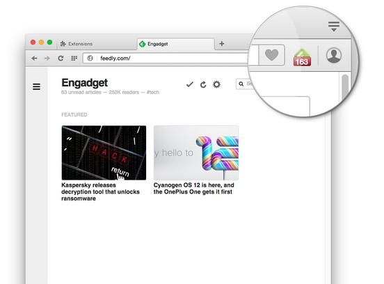 Captura de pantalla para Feedly Notifier Plus