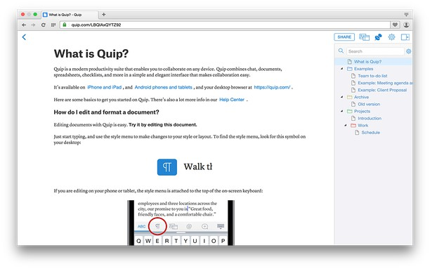Screenshot for Quiptree