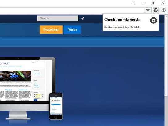 Screenshot for Check Joomla versie