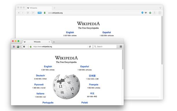 Aperçu de Open in Tor Browser
