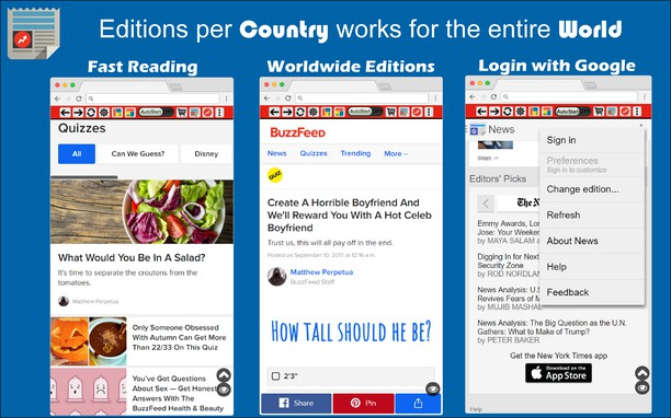 Extension Hub for Google News / BuzzFeed - Add-ons Opera