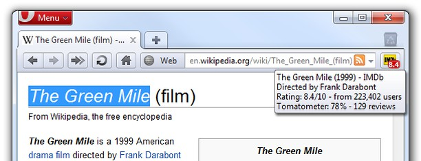 Go to IMDb extension - Opera add-ons