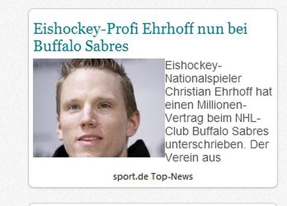 Captura de pantalla para Sport.de Latest News