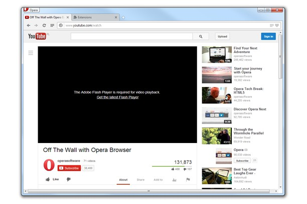 Download new opera 10. 60 beta with webm html5 vp8 support.
