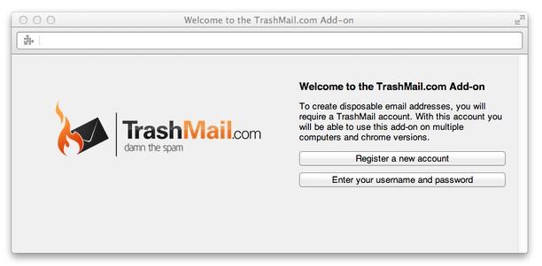TrashMail com: Create disposable address extension - Opera