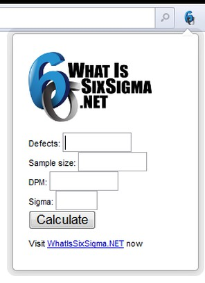 Copie d'écran pour Six Sigma Calculator