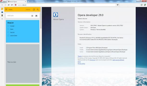 Snimak ekrana za Google Keep Sidebar