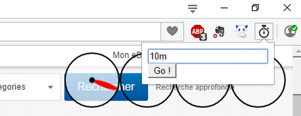 Page timer 用のスクリーンショット