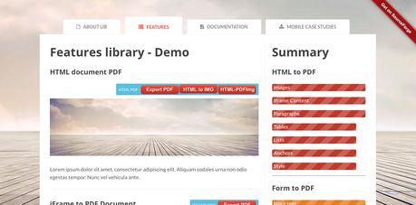 HTML5 PDF bar