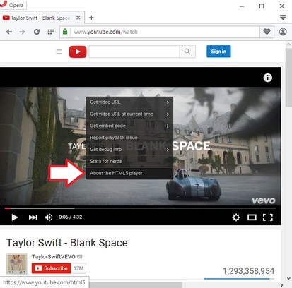 Zrzut ekranu pakietu YouTube™ All HTML5 Player