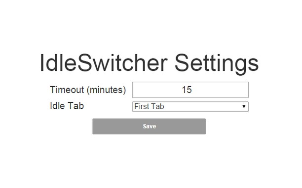 Screenshot for IdleSwitcher
