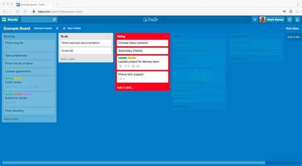 Captura de tela de List Highlighter for Trello